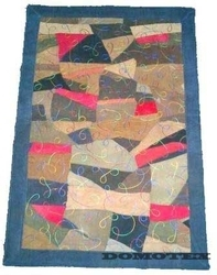 Beautiful Leather Embroidery Rugs