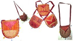 Hand Bags with Beads and Mirror Work