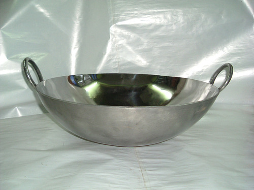 Kadai Wok Stainless Steel Karahi Manufacturer From New