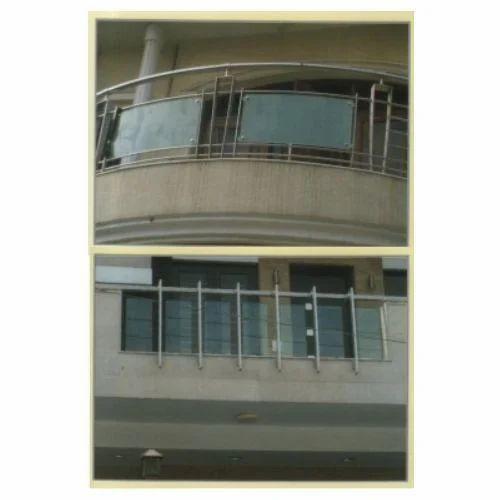 Stainless Balcony Railings - Balcony Railing With Glass ...