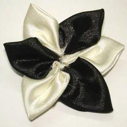 Black & White Ribbon Flower