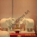 Elephant Pair Saluting Statue