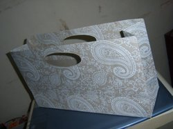 Multi Plain Die Cut Handle Handmade Paper Bag