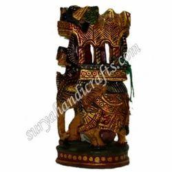 Wooden Antique Ambawadi Elephant