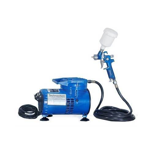 Mini Air Compressor With Touch Up Spray Gun Ti 140 Small
