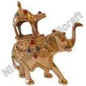 Designer Brass Lekar Elephant Statues