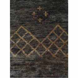 Embroidered Handknotted Jute Carpet