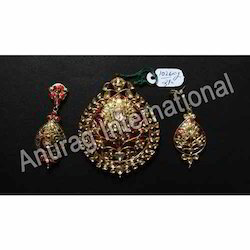 Jewelry Sets Fashion Jewelry Objective Indian Kundan Traditional Choker Style Emeraldnecklace Earring Tikka Jewelry Set