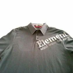 Mens Collar Printed T-shirts