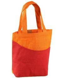 Orange Red Jute Beach Bags