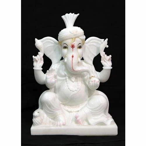 Marble White God Ganesh Murti Rs 15000 Piece Kavistha