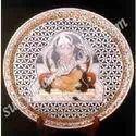 Marble Plate Painting Ganesha Ji