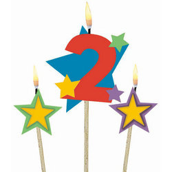Number 2 Candle Artificial Decorative Candles