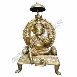Brass Chowki Ganesha