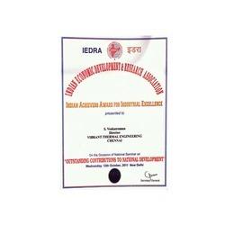 IEDRA Certificate