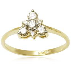 Diamond Gold Ring For Girls