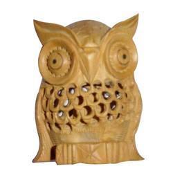 Wooden Jali Owl