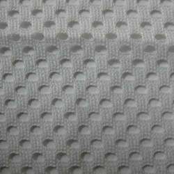 Grey Warp Knit Mesh Fabric