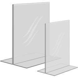 Acrylic Double Sided Label Holders
