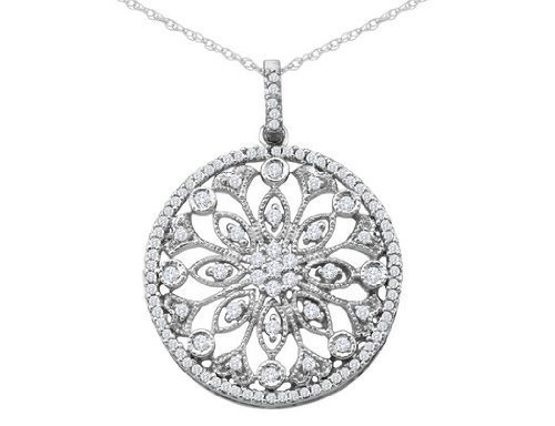 Diamond circle pendant necklace 12 carat pooja jeweler surat diamond circle pendant necklace 12 carat aloadofball Choice Image
