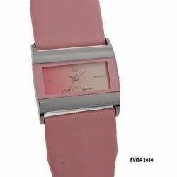 Ladies Pink Wrist Watch