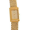 Men's Golden Chain Watch