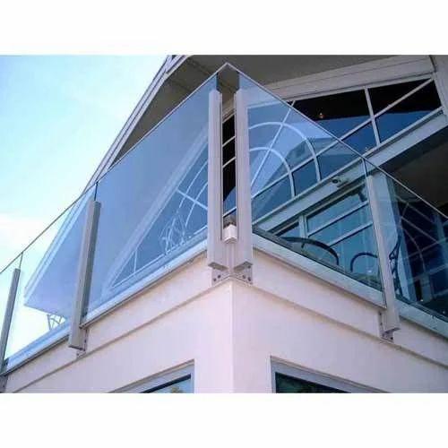 Brilliant Stainless Steel Pipe Railing With Glass Shree Gurudatta Interior Design Ideas Apansoteloinfo