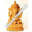 Carved Wooden Ganesha Statues