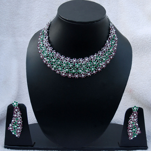 eabb350e9 Manufacturer of Simulated CZ Jewelry   Indian Necklaces by Indian ...