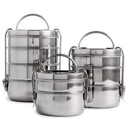 fed782a3345 Steel Tiffin Box at Rs 200  piece(s)
