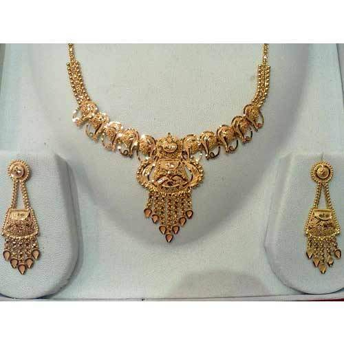necklace with earrings golden necklace sets kolkata new roy