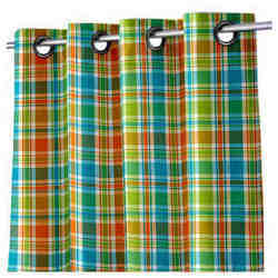 Yarn Dyed Check Curtain