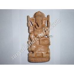 Wooden Ganesh Elephant Sitting