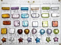 Silver Foil Single Tone Beads