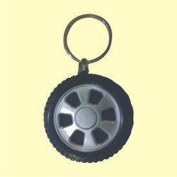 Tyre Shape Key Ring With Torch