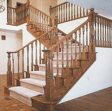 Stylish Wooden Staircase Railing