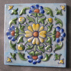 Indian Blue Pottery Tile