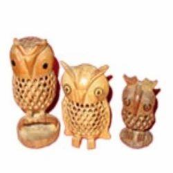 Wooden Owl Showpiece