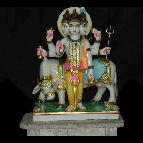 Marble  Lord Dattatreya Sculpture