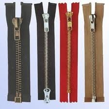 Clothing Metal Zippers