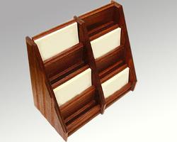 Matt /Brown/Gloss. Wooden Envelope Holder