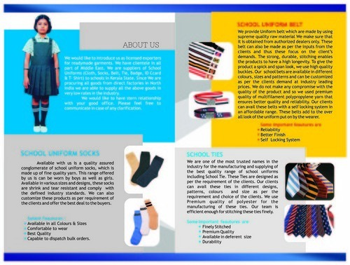 Brochure and School Belts Manufacturer | Glorious Exports