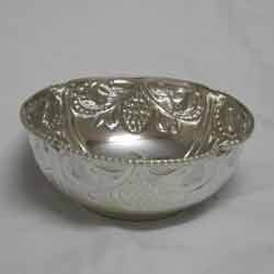 German Silver Round Bowl