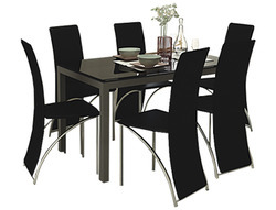 Knight dining table with ebony chairs cbs kitchen gallery chennai knight dining table with ebony chairs watchthetrailerfo