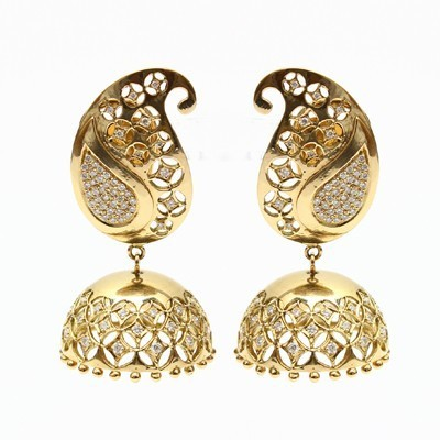 Fashion Jewellery Items Gold Jhumka Manufacturer From Rajkot