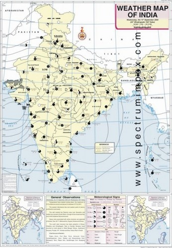 Weather In India Map Synthetic Polyar Paper Multicolor September Weather Map Of India