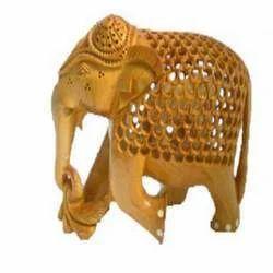 Wooden Undercut Elephants