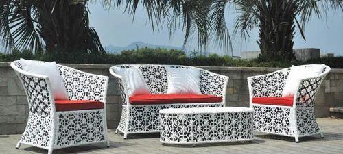 White Garden Rattan Indian Sofa Set Size 3 Feet Rs 48500 Set