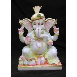 Ganesha Marble Statue, Packaging Type: Wooden Box