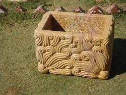 Sandstone Carved Planter